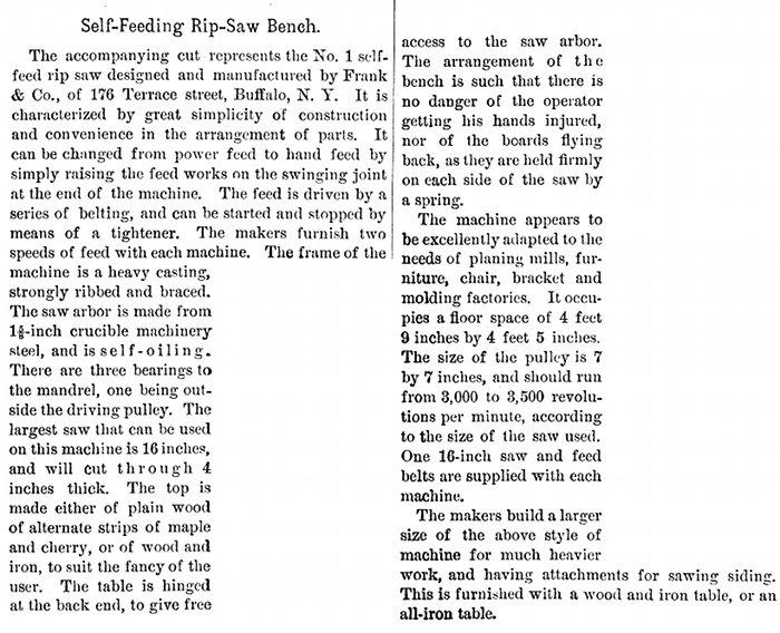 Frank  U0026 Co  - 1889 Article