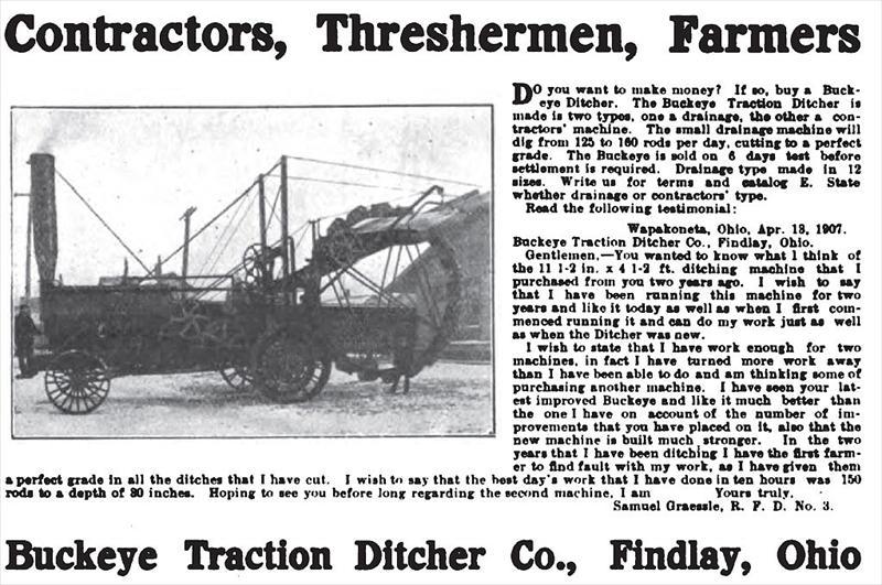 Buckeye Traction Ditcher Co 1907 Ad Buckeye Traction