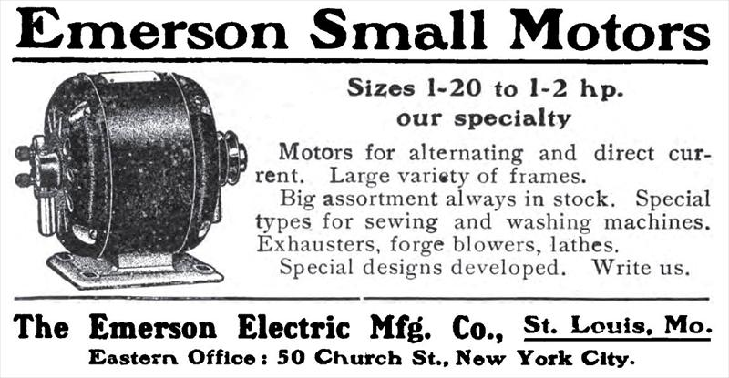 emerson electric co 1909 ad emerson electric mfg co