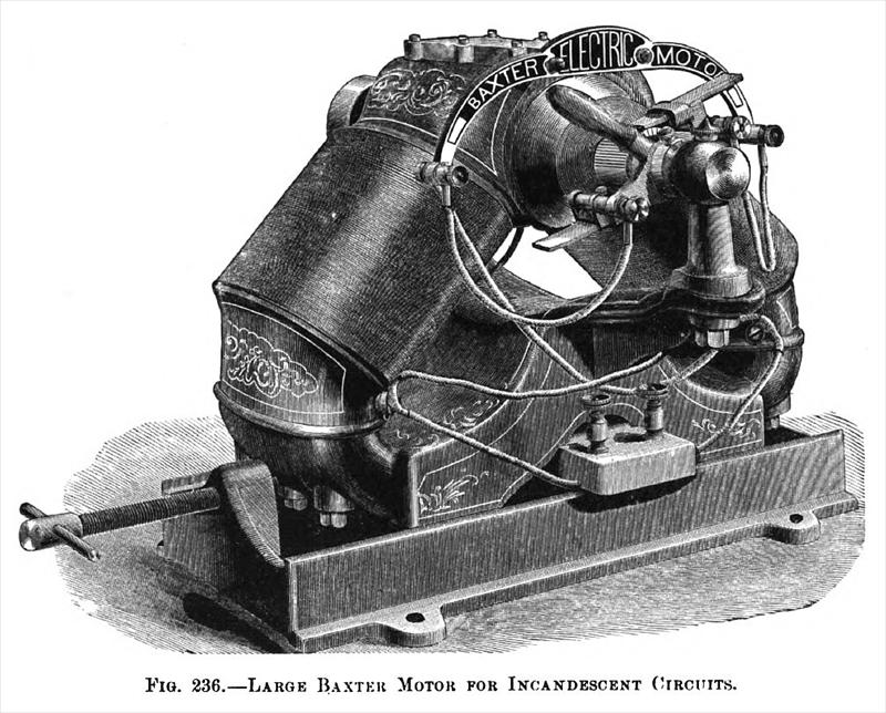 Baxter Electric Manufacturing Motor Co 1888 Images