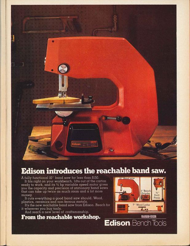 Mcgraw Edison Co 1980 Ad Edison Bench Tools