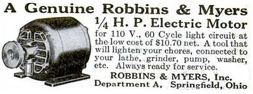 Robbins myers inc 1929 ad robbins myers inc h for Robbins and myers replacement motors