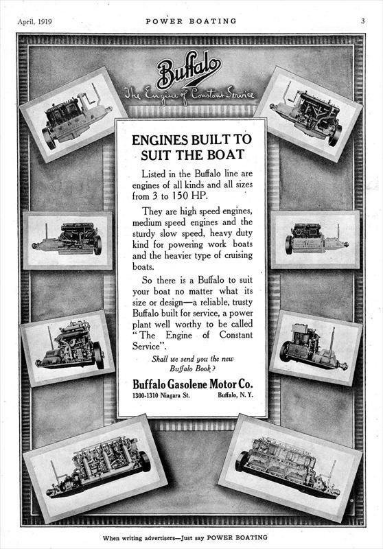 Buffalo Gasolene Motor Co 1919 Ad Buffalo Gasolene
