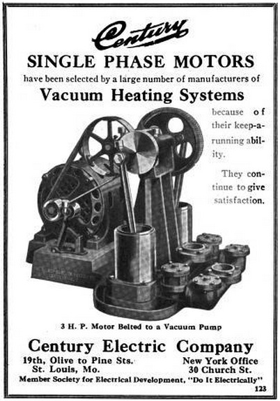 Century Electric Co 1914 Ad Century Single Phase