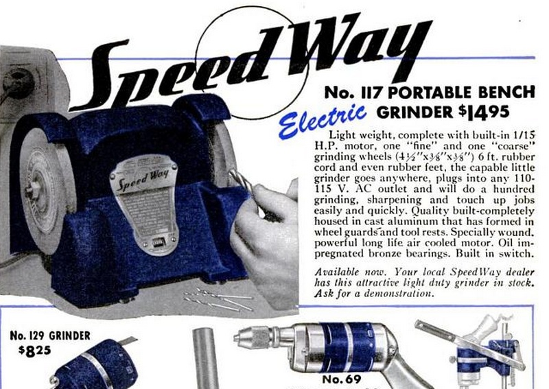 Thor Power Tool Co 1948 Ad No 117 Speedway Mfg Co