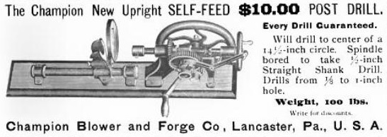 Champion Blower & Forge Co  - History | VintageMachinery org