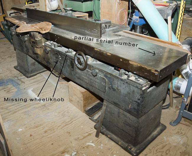 """Photo Index - American Machinery Co. - 18"""" Jointer """"The ..."""