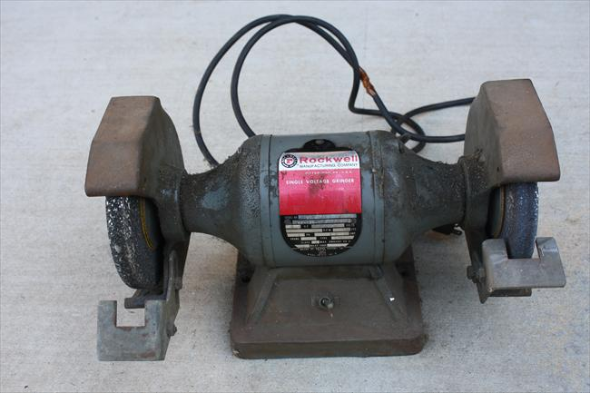 Photo Index Rockwell Manufacturing Co Bench Grinder