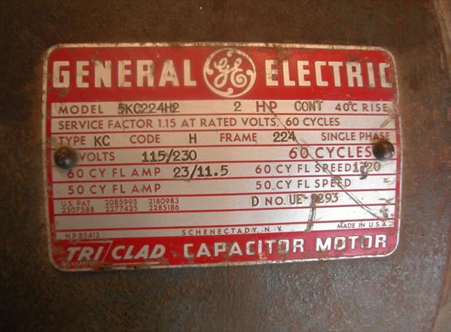Photo index general electric co tri clad capacitor for General electric motor company