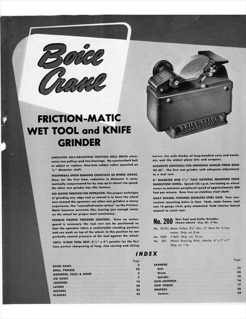 Photo Index Boice Crane Co 200 Friction Matic Wet