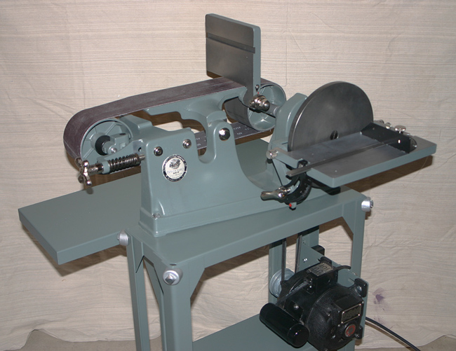 Belt disc sander for metal